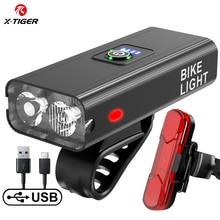 X-TIGER Bicycle Light Rainproof USB Charging LED 1200 Lumens MTB Front Lamp Headlight Aluminum Ultralight Flashlight Bike Light