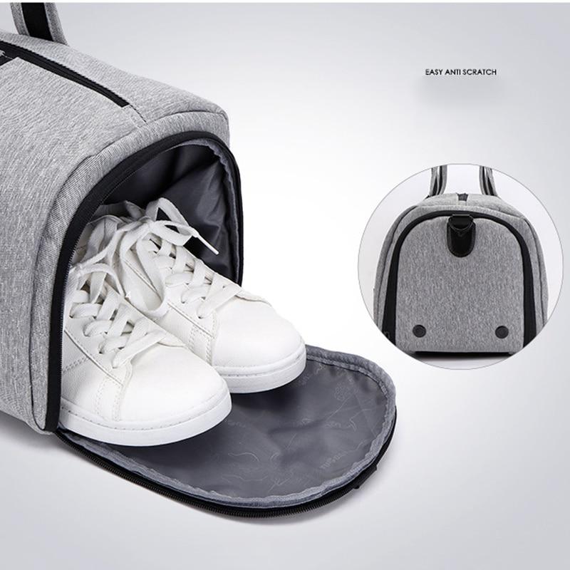 Bolsas de gimnasio multifuncional portátil de gran capacidad para hombres bolsos de viaje de hombro zapatos de almacenamiento al aire libre Fitness Yoga entrenamiento bolso - 4