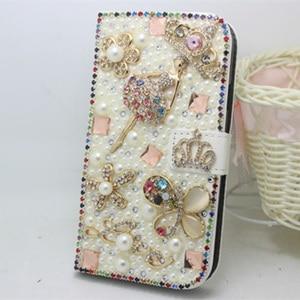 Image 4 - Luxus Bling Handmade Glitter Strass Perle Leder Flip Brieftasche Schutzhülle Für Samsung S10 S9 S20 S8 Plus Note10 9 8