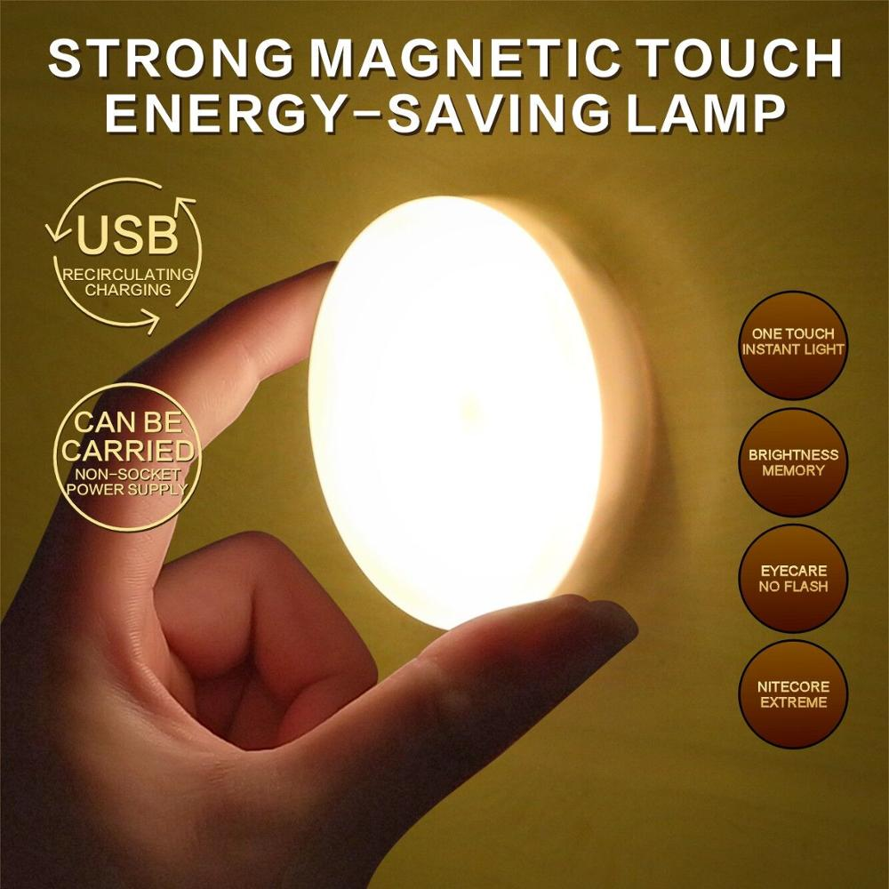 USB Charging Led Night Light Touch Lamp Bedside Baby Toilet Bedroom Door Rechargeable Wireless Mini Lights