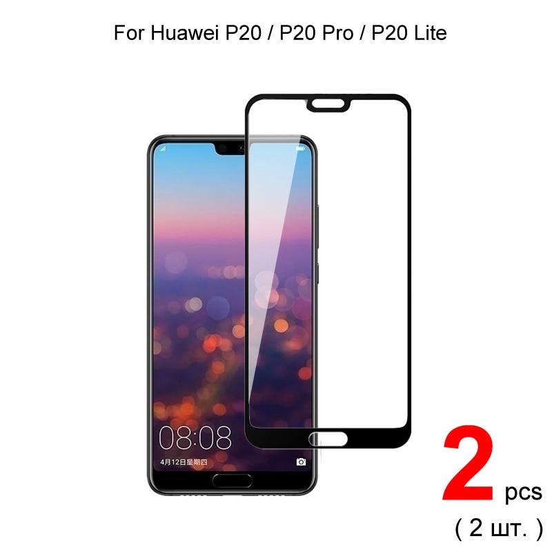 2 шт. для Huawei P20 Lite P20 Pro стекло полное покрытие закаленное стекло Защита для экрана Защитное стекло для Huawei P20 Lite P20 Pro