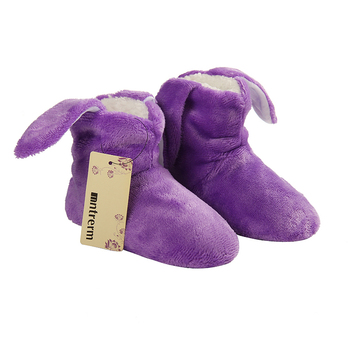 Children Cotton Shoes Kids Home Slippers Boys And Girls Baby Cute Rabbit Ears Plush Thickening Warm Indoor Slippers