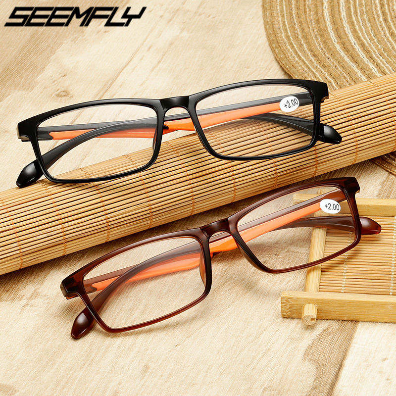 Seemfly TR90 Reading Glasses Men Women Presbyopic Eyeglasses Ultralight Hyperopia Reader Eyewear Optical Spectacles +1.5 2.5 3.5