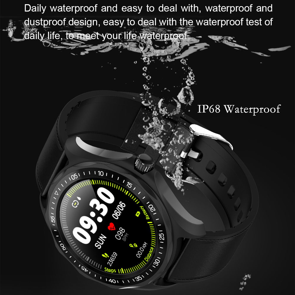 SENBONO S09 Smart Watch IP68 Waterproof Men Heart Rate Monitor Blood Pressure Fitness Tracker GPS Map Smartwatch for Android iOS
