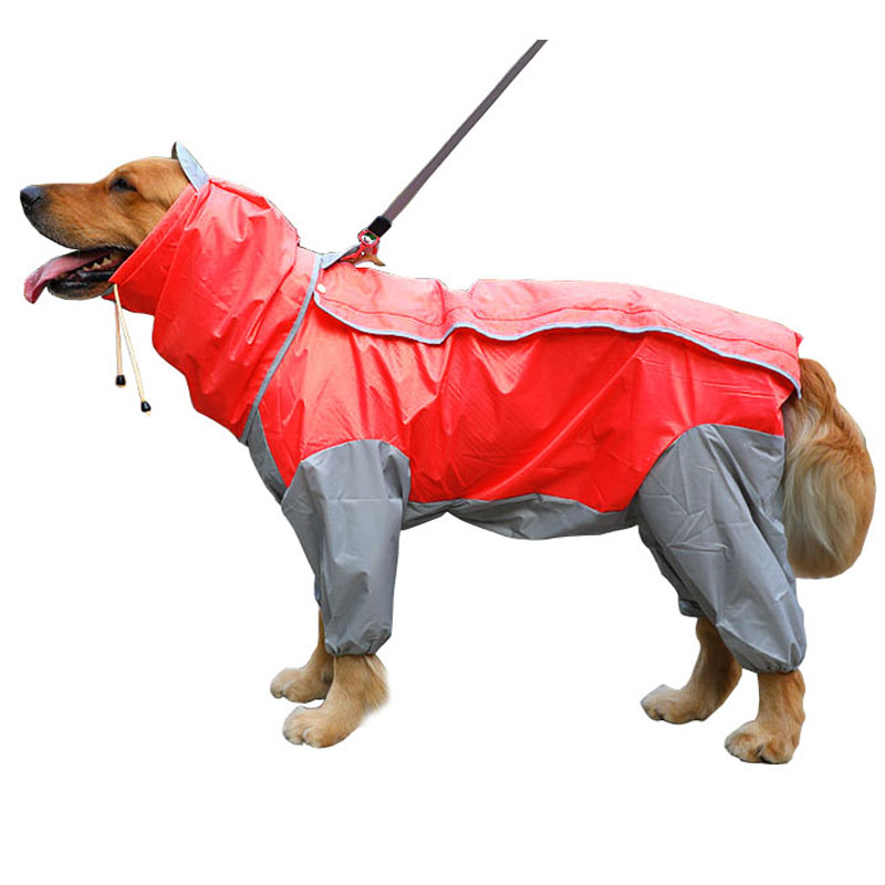 Dog Raincoat Waterproof Rain Jumpsuit For Large Medium Small Dogs Golden Retriever Outdoor Big Dog Poncho Coveralls  WLYANG