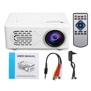 LEORY 1080P HD проектор, RD-814, портативный, 220 В, с европейской вилкой, USB светодиодный проектор, система Beamer, медиаплеер, кинотеатр, HDMI, VGA, tv, 3D