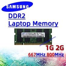 Samsung ddr2 1 Гб 2 Гб 667 МГц 800 МГц ОЗУ sodimm память для ноутбука pc2- 5300S 6400S 4 Гб