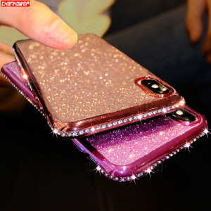 3D Rhinestone Soft Case For Xiaomi Redmi Note 7 8 Pro Cases Glitter Coque For Xiomi Redmi 7A Note 7 Pro Redmi7A Redmi7 TPU Cover(China)
