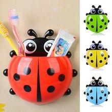 Rack Container-Organizer Toothbrush-Holder Wall-Suction-Holder Ladybug Animal Bathroom