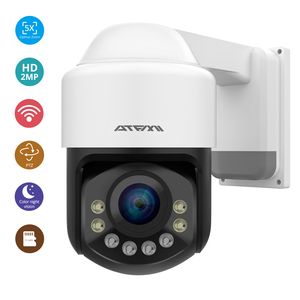 Image 1 - ATFMI واي فاي 1080P PTZ IP كاميرا 4X التكبير كاميرا شبكة مراقبة كامل اللون للرؤية الليلية H265 2MP مقاوم للماء IP66 IR 60m PTZ 1920X1080
