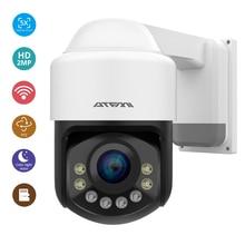 Atfmi Wifi 1080P Ptz Ip Camera 4X Zoom Netwerk Camera Full Kleur Nachtzicht H265 2MP Waterdichte IP66 Ir 60M Ptz 1920X1080