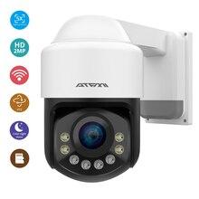 Atfmi wifi 1080 720p ptz ipカメラ4XズームネットワークカメラフルカラーナイトビジョンH265 2MP防水IP66 ir 60メートルptz 1920X1080