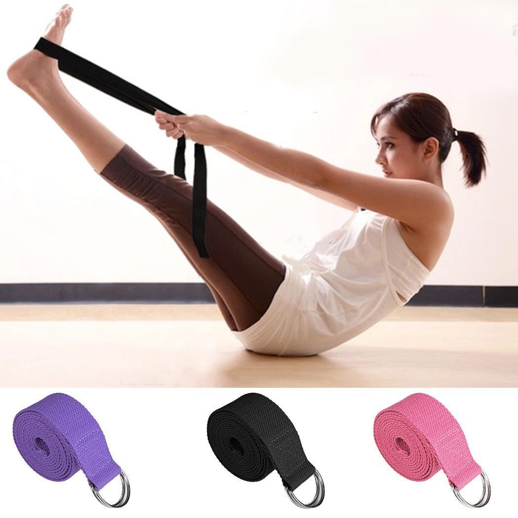 New Sport Yoga Stretch Strap DRing Belt Gym Waist Leg Fitness Adjustable Belts