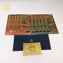 Billets de football RU en plastique doré, 100 Roubles, faux argent pour Collection, 10 pièces/lot, RU003