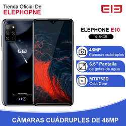 Перейти на Алиэкспресс и купить elephone e10 4gb 64gb smartphone octa core 6.5дюйм. screen quad camera 48mp main cam android 10 nfc side fingerprint mobile phone