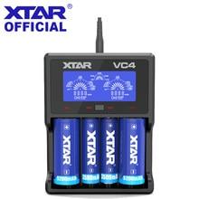 XTAR VC4 VC2 סוללה מטען 3.7V אינטליגנטי ליתיום 18650 17500 10440 16340 18350 26500 AA / AAA NiMH ליתיום סוללה מטען
