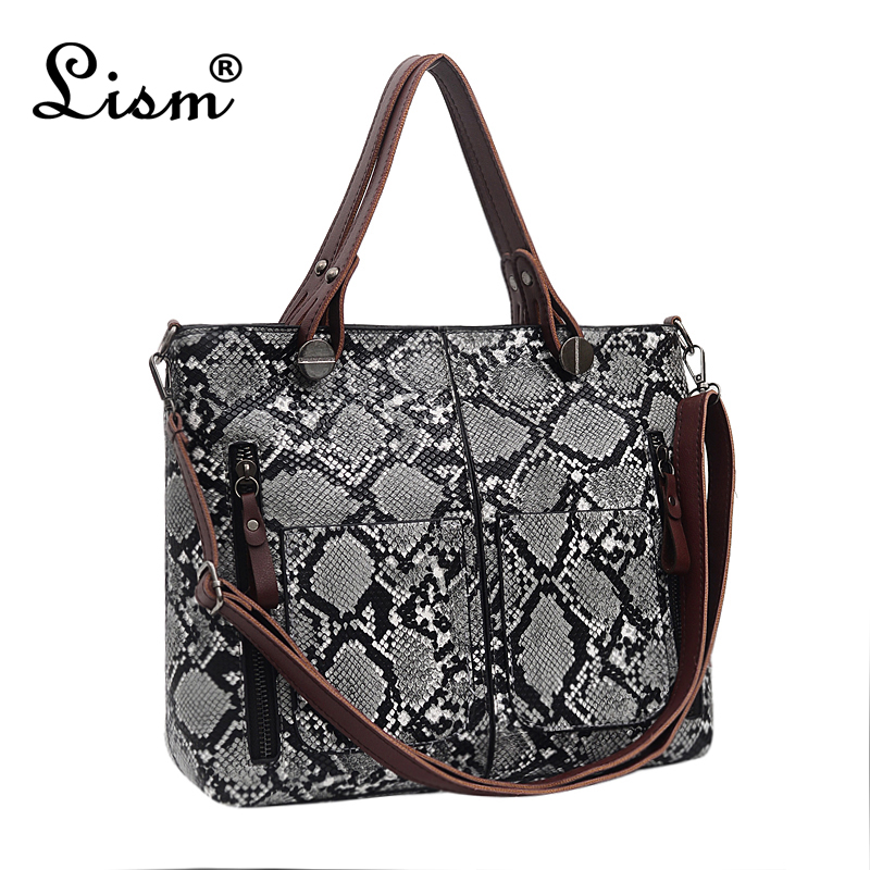 Female Bag Snake Large Capacity Handbag 2019 New Brand Designer Luxury Shoulder Messenger Bag Main
