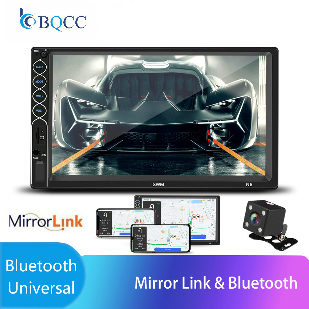 Autoradio 2 Din 7 LCD Touch screen car radio bluetooth Multimedia auto audio stereo Mirror Link Steering Wheel Control image