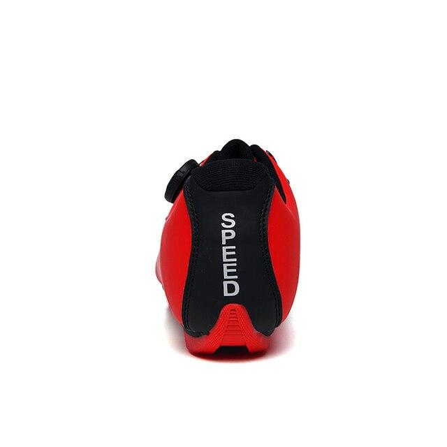 Fibra de carbono dos homens sapatos ciclismo respirável triathlon mountain bike tênis homem esporte de corrida estrada sapatos rotação fivela 4