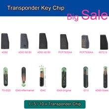 KEYECU Chave Do Carro Transponder Chip 4D60 4D63 ID48 ID13 ID4C PCF7935AA PCF7936AA 4D72G T5-ID20 4D60 Chip De Vidro