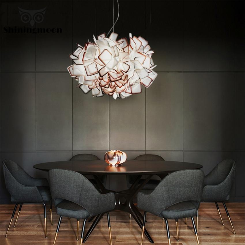 Nordic kreatywne lampy wiszące nowoczesna kryształowa zawieszka lampa wisząca salon sypialnia lampa wisząca oświetlenie kuchenne oprawa