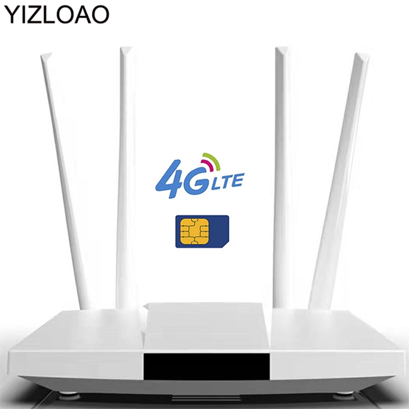YIZLOAO 4G Lte Wifi Router 4G 300Mbps Broadband Cpe Network Access Points Modem RouterHotspots Wi Fi Range Extender Wifi Booster