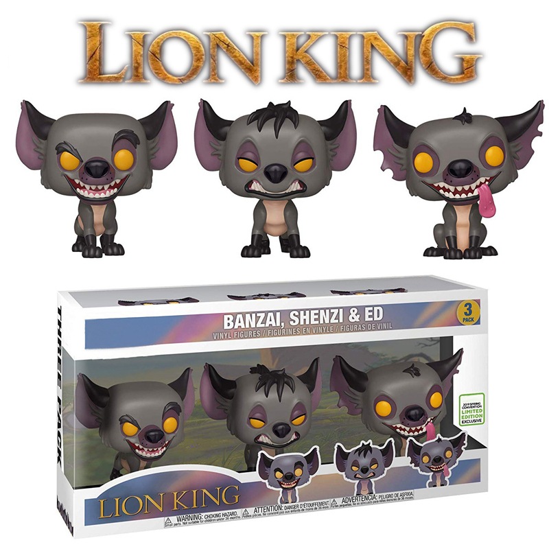 Lion King Figures 3-Pack Popular Limited Edition Hyenas Banzai Shenzi Ed Figures Lion King Toys Model Doll For Kids