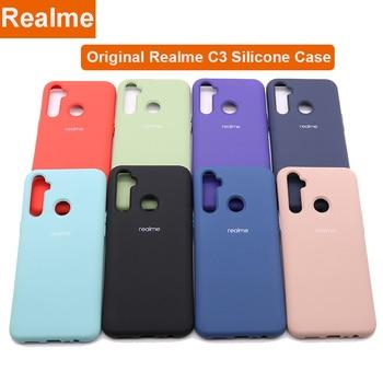Original Realme C3 Liquid Silicone Phone Case For Realme C3 Case Cover Silky Soft-Touch Protective Cover For Realme C 3 1