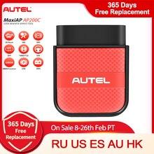 Autel AP200C Bluetooth Obd2 tarayıcı kod okuyucu tam sistem teşhis aracı teşhis tarayıcı PK AP200 ve AP200M