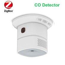 El sensor inteligente de monóxido de carbono Zigbee Detector de CO independiente funciona con el asistente del hogar Zigbee2mqtt