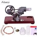 Aibecy Retro Stil Luft Stirling-motor Motor Modell Dollar Schwungrad Design Pädagogisches Spielzeug mit Bunten LED Licht String