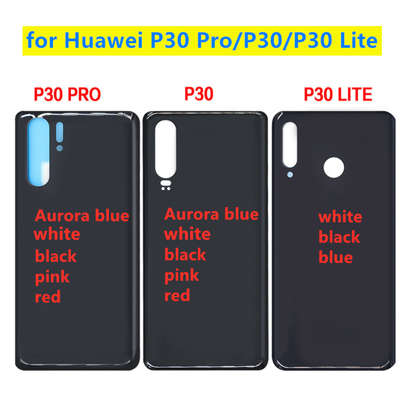 100% New For <font><b>Huawei</b></font> <font><b>P30</b></font> / <font><b>P30</b></font> Lite <font><b>Battery</b></font> <font><b>Cover</b></font> For <font><b>Huawei</b></font> <font><b>P30</b></font> Pro Back Glass Rear Door Panel Housing Case Adhesive Sticker image