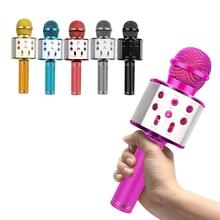 WS858 микрофон Bluetooth беспроводной USB WS 858 Профессиональный динамик Consender Ktv мобильный телефонный проигрыватель микрофон Запись музыки
