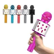 цена WS858 Microphone Bluetooth Wireless USB WS 858 Professional Speaker Consender Ktv Mobile Phone Player Mic Record Music в интернет-магазинах