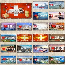 30X15CM Japanese Metal Poster Mount Fuji Travel Souvenir Retro Decorative Signs  Wall Art Restaurant Shop Home  Decor  DC-1120A