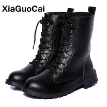 Autumn Winter Women Ankle Motorcycle Boots Classic Big Size Lady Martin Boots Soft Pu Leather Lace Up High Top Female Shoes 2019 mljuese 2019 women ankle boots soft cow leather lace up winter warm fur white color female boots women martin boots size 33 43