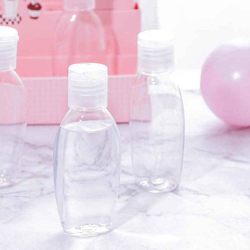 50ml Portable Plastic Transparent Lotion Bottle Disinfection Water Alcohol Bottle Hand Sanitizer Storage Container Flacone