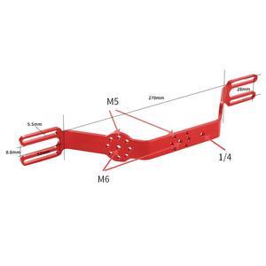 Image 5 - Dual Griff Grip Bracket Handheld Expansion Montieren mit Clip Schraube Adapter Top Griff Shutter Verlängerung Sport Kamera Unterwasser