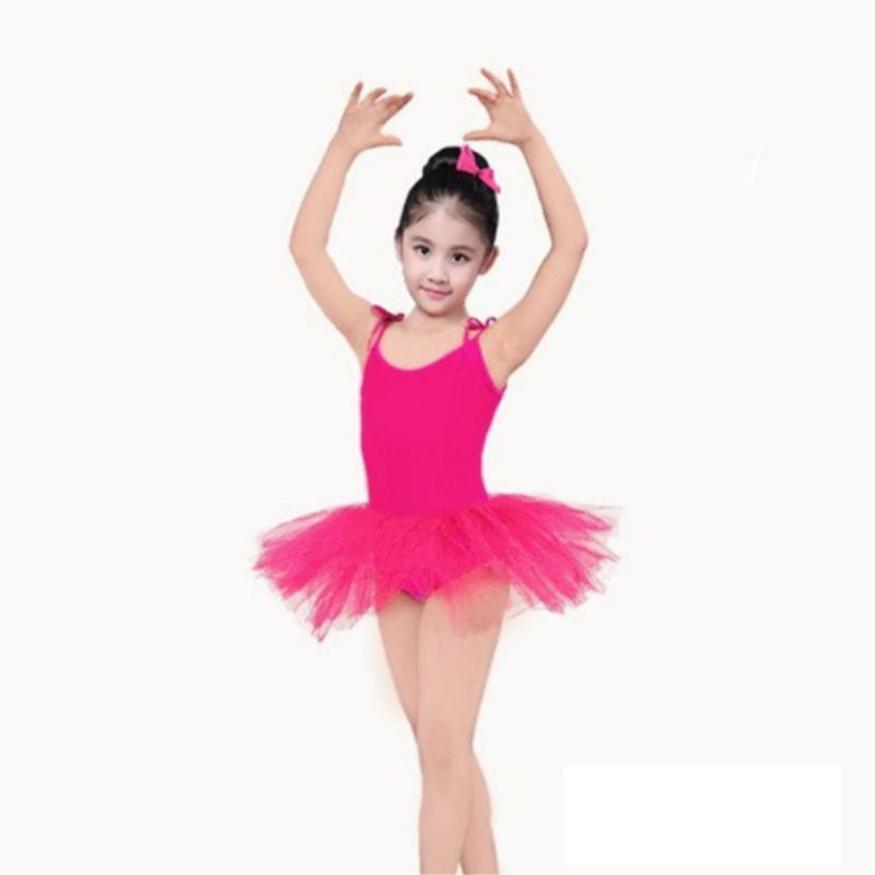 Dance Sling Ballet Dress Girls Mesh Tutu Dance Costumes Exercise Clothes Small Princess Fluffy Dancewear New