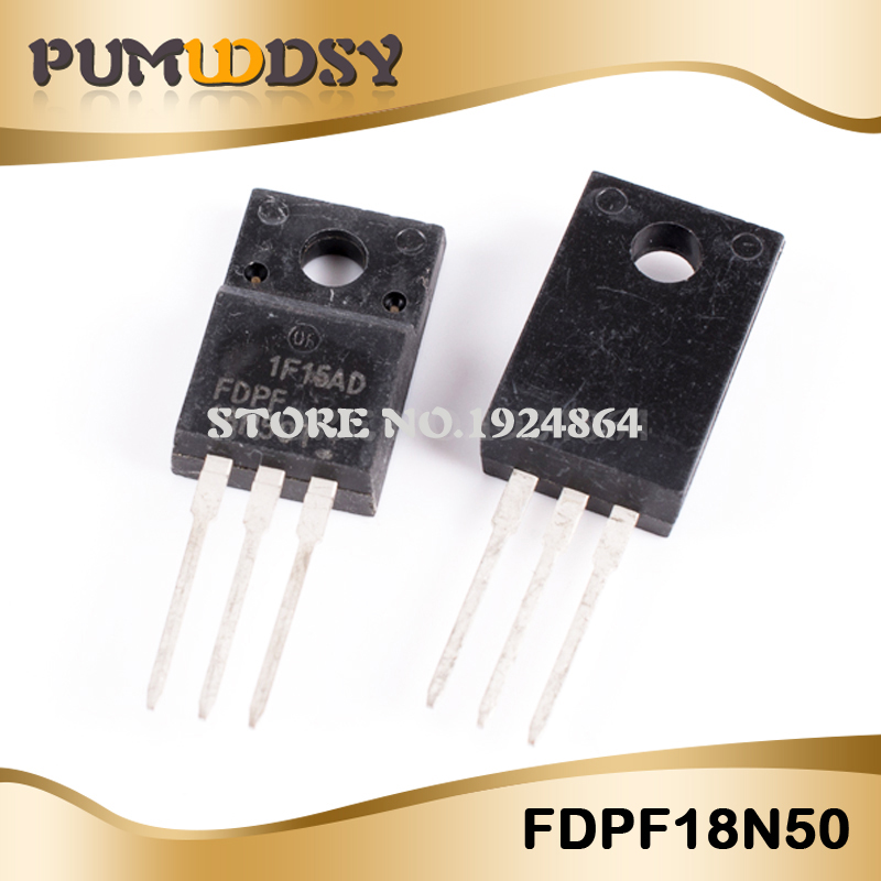 10pcs/lot Free shipping <font><b>MDP18N50</b></font> FDPF18N50 18A 500V TO-220 new original IC image