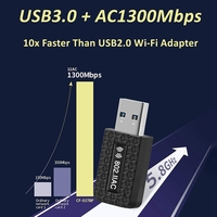 5Ghz Wifi USB Wifi Adapter AC 1300Mbps Wi-fi Adapter USB 3.0 Ethernet Wi Fi Antenna Dual Band 2.4G&5G Wifi Module For PC Laptop