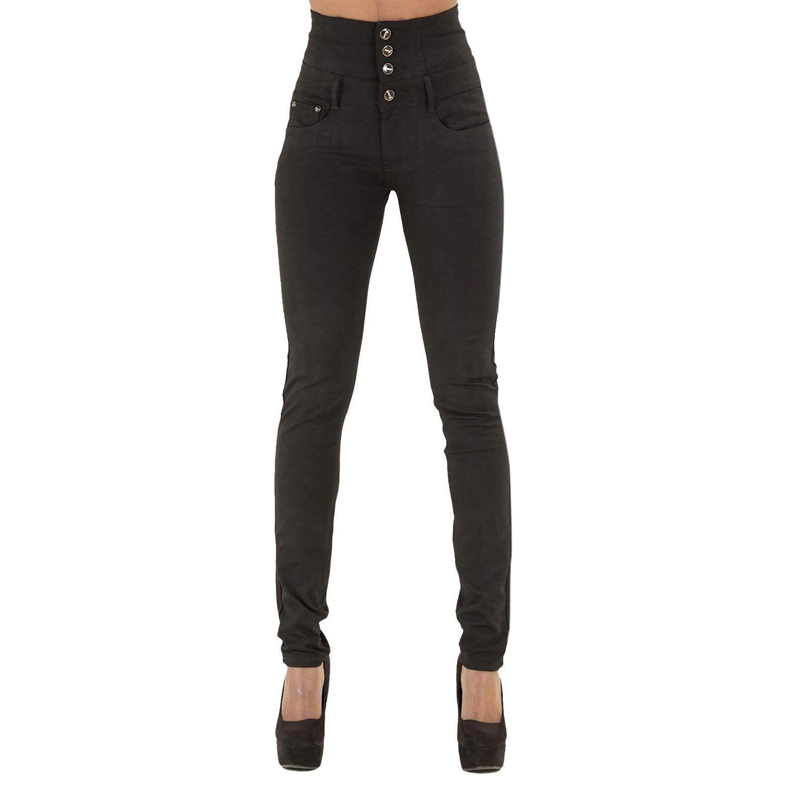 Explosion Models Wish Autumn And Winter Women's High Waist Slim Stretch Large Size Feet Jeans Female Washed Pencil Pants