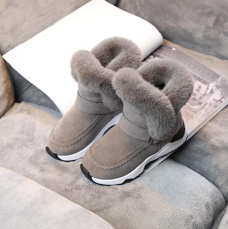 Fashion Girls Boots New Children Winter Shoes Princess Fashion Boots Kids Plush Snow Boots For Girls Shoes Soft