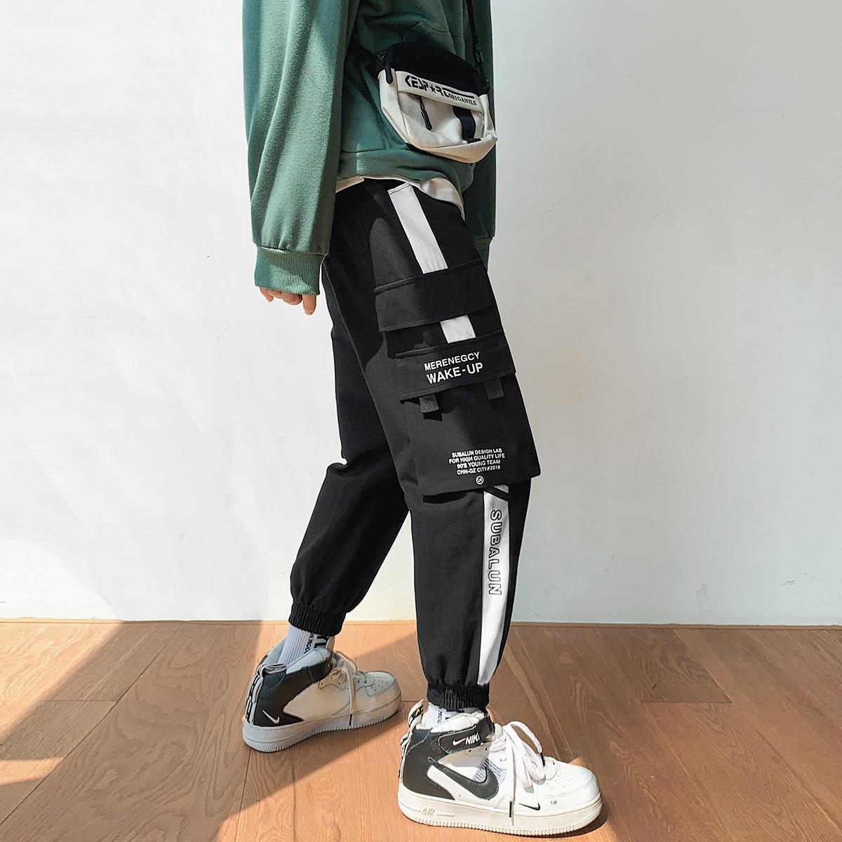 2019 Men's Hit Color Printing Leisure Cotton Casual Pants Male Trousers Active Elastic Hip Hop Joggers Sweatpants Big Size M-5XL