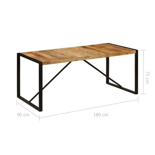 """【USA Warehouse】Dining Table 70.9""""x35.4""""x29.5"""" Solid Mango Wood 2"""