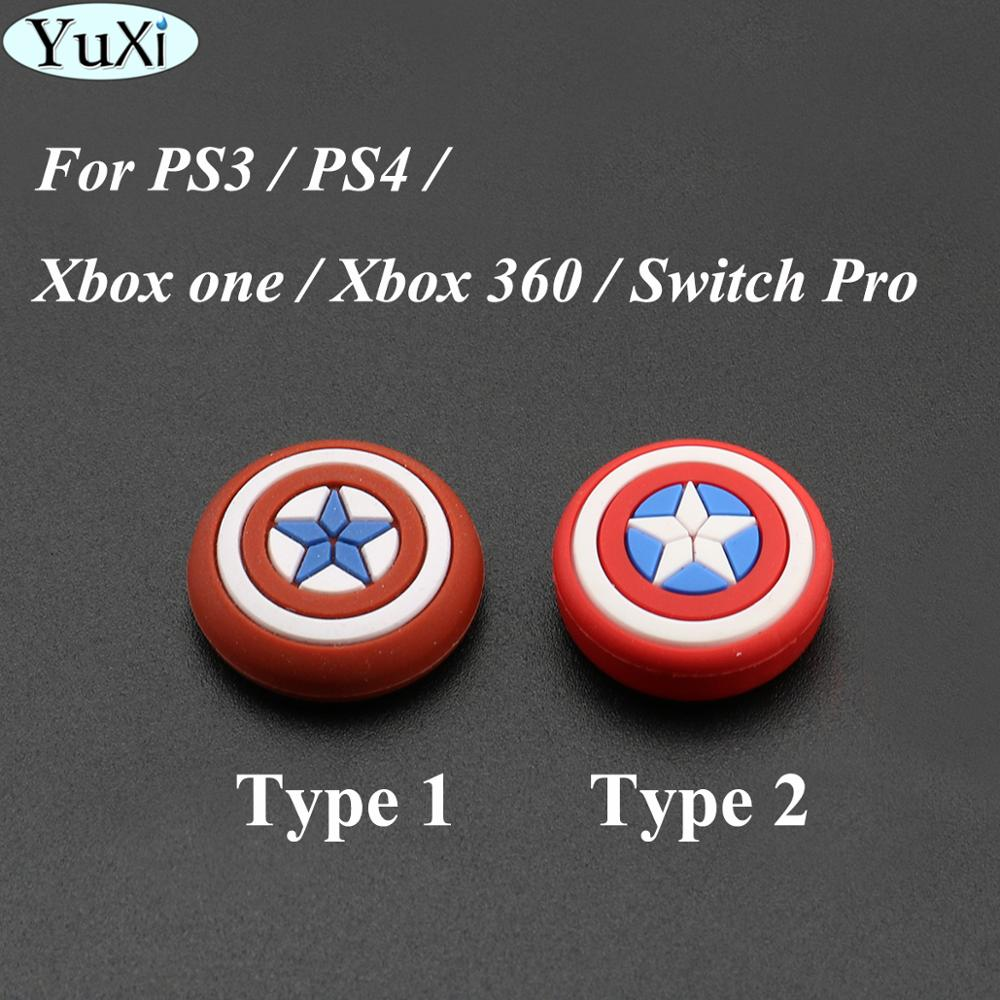 YuXi For Switch Pro For XBOX360 Analog Extender Thumb Grips For Sony PS4 For Playstation 4 Controller