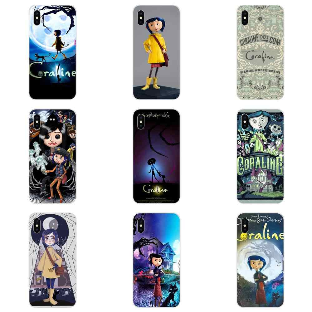 Cartoon Girl Coraline Vintage For Sony Xperia Z Z1 Z2 Z3 Z4 Z5 compact Mini M2 M4 M5 T3 E3 E5 XA XA1 XZ Premium Skin Ultra Thin