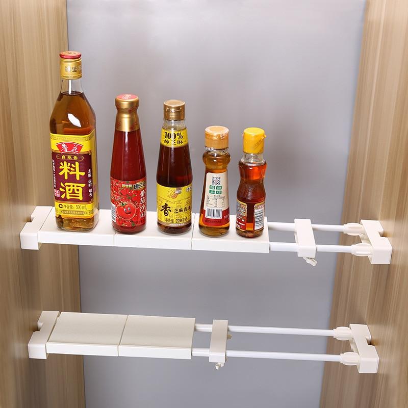 Estante de cocina organizador de armario ajustable, estante de almacenamiento montado en pared, ahorro de espacio, armario decorativo, soportes de gabinete de estantes Estante de baño Sokoltec hw47885wh