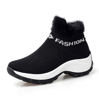 Tenis Feminino Women Tennis Shoes Plush Warm Female Gym Sport Shoes Breathable Mesh Trainers Lady Flat Sneakers Zapatos Mujer