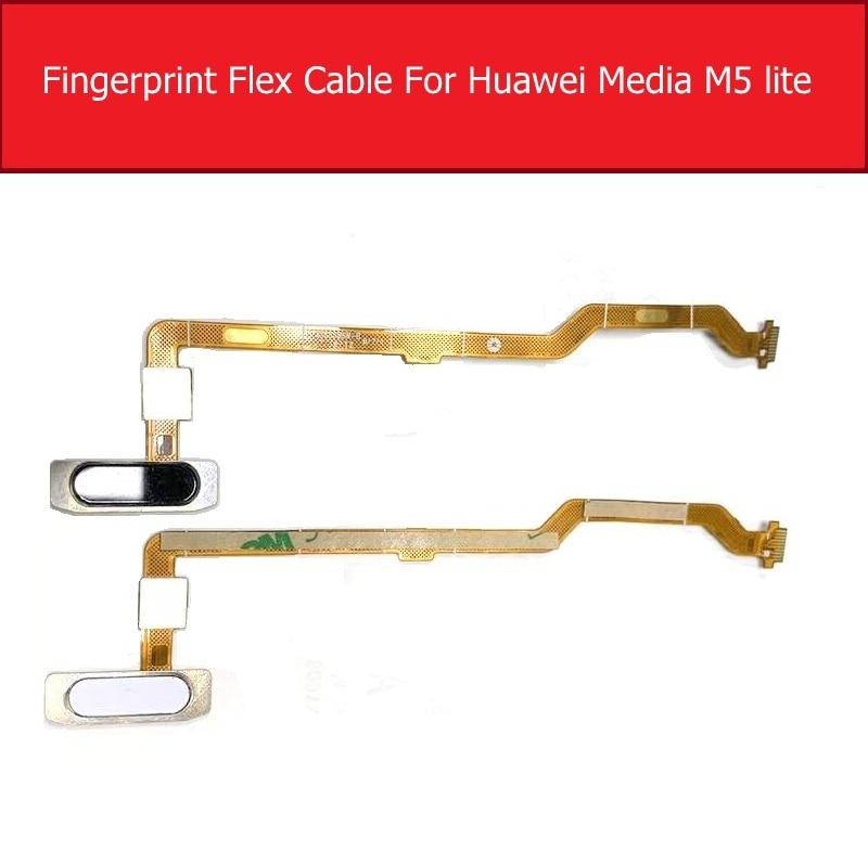 Fingerprint Home Button Flex Cable For Huawei MediaPad M5 Lite 10 BAH2-L09 BAH2-L09C Bach2-L09C Bach2-W19C Repair Parts